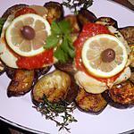 recette Steak de thon germon aux aubergines