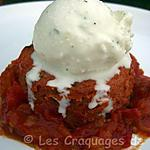 recette Flan à la tomate et sorbet chèvre