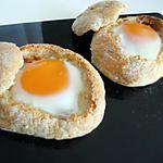 recette Petits pain fourré a l'oeuf& chorizo