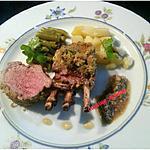 recette Couronne d'agneau persillé à la moutarde