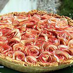 recette Tarte aux pommes bouquet de roses