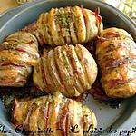recette ~Pommes de terre papillon cheddar-bacon~