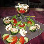recette assiette  crudités  reste de saumon