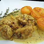 recette Poulet à la vanille et palet de polenta rissolé au beurre salé