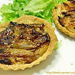 recette Tartelettes aux échalotes Traditionnelles Bio et chèvre