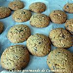 recette Cookies aux noix de pékan, amande et chocolat