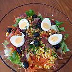 recette Petite salade colorée