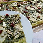 recette tarte fine au pesto et pommes