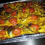 recette Brochettes de sardines mariné à la Marocaine et tomates cerise