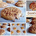 recette Cookies aux cacahuètes pralinées
