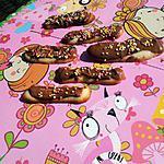 recette Langues de chat (Pour les Enfants) déguisé au nutella et coloré