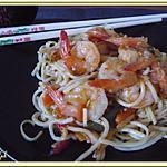 recette Nouilles chinoises aux crevettes