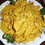 recette Emincé de dinde au garam masala