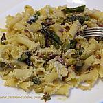 recette Pâtes corolles aux asperges vertes
