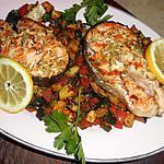 recette Darne de saumon aux courgettes sautées