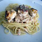 recette Spaghettis sauce homard  au boulettes de poisson