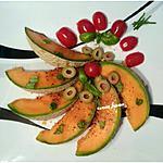 recette CARPACCIO DE MELON au basilic & huiled'olive