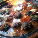 recette Boulettes de Boeuf farcie à la mozzarella sauce tomate