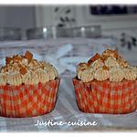 recette cupcake speculoos, coeur de framboise