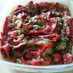 recette Salade d'aubergines et de poivrons grillés