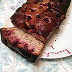 recette Cake au chocolat blanc, amandes et framboises
