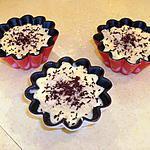 recette Petites coupes de glace au chocolat blanc saupoudrées de noisette