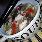 recette Soupe chinoise de vermicelles au poulet