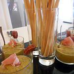recette Velouté de petits pois-courge a la coriandre