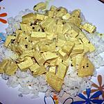 recette Tofu au curry et lait de coco (végétarien)
