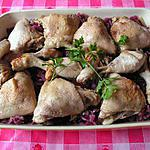 recette Cuisses de poulet à la bière, compoté de chou rouge