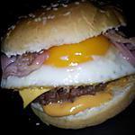 recette Burger à cheval et lard