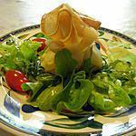 recette Aumônière de chèvre,tapenade et tomate séchée