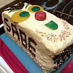 recette Rainbow cake deco