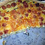 recette tarte saucisses  de strasbourg,  saumon fumé champignons