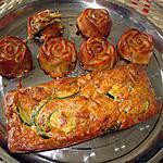 recette cake courgettes lardons    noisettes  idée trouvée sur le blog cuisiner  et papoter