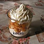 recette Liégeois de pommes au caramel
