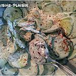 recette Salade de concombre au yaourt et ses aromates