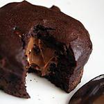 recette Moelleux chocolat noir au coeur fondant de praliné