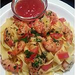 recette Pâtes aux scampi marinés au citron, à l'ail & piment d'Espelette