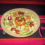 recette assiette crudités  saumon