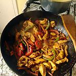 recette Wok de poulet au curry et ses légumes croquants