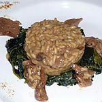 recette risotto  aux champignons et épinards
