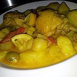 recette Râgout de pomme de terre au poulet citron et olives