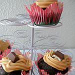 recette Cupcakes Kinder glaçage a la crème caramel au beurre salé