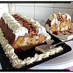recette victoria cake banana crème petit suisse au miel enrobage chocolat chantilly