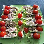 recette endives avec thon a la mayonnaise et tomate cerise