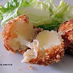recette Cromesquis de pommes de terre, mozzarella et chapelure maison