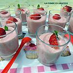 recette Mousse fraises sans oeufs