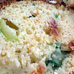 recette Cake moelleux aux noix de Saint Jacques, courgettes et tomates séchées