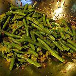 recette Haricots verts et céleri sautés